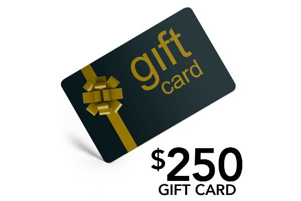 R036-61215: $250 Gift Card