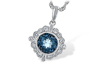 A225-66688: NECK .98 BLUE TOPAZ 1.10 TGW