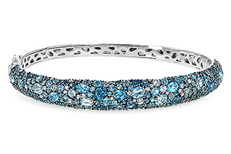 A226-57606: BANGLE 7.60 BLUE TOPAZ 7.85 TGW