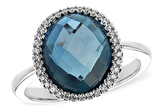 C225-65742: LDS RG 5.31 LONDON BLUE TOPAZ 5.45 TGW