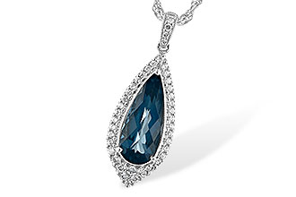 D225-66651: NECK 2.40 LONDON BLUE TOPAZ 2.65 TGW
