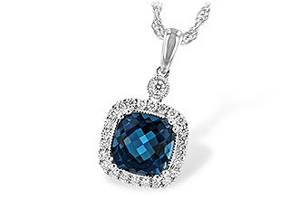 E225-64824: NECK 1.63 LONDON BLUE TOPAZ 1.80 TGW