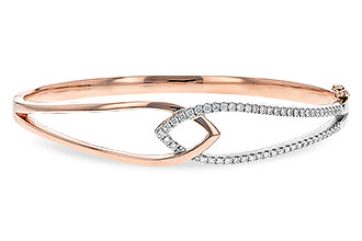 E225-71260: BANGLE BRACELET .50 TW (ROSE & WG)