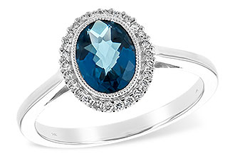 F225-64842: LDS RG 1.27 LONDON BLUE TOPAZ 1.42 TGW