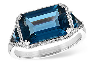 F226-56678: LDS RG 4.60 TW LONDON BLUE TOPAZ 4.82 TGW