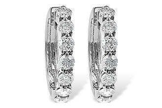 G037-48469: EARRINGS 2 CT TW