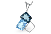 G224-79396: NECK 10.60 BLUE TOPAZ 10.73 TGW