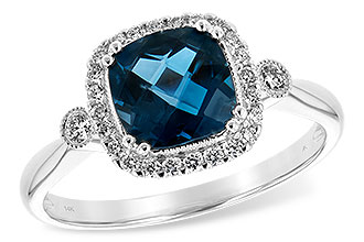 H225-64842: LDS RG 1.62 LONDON BLUE TOPAZ 1.78 TGW