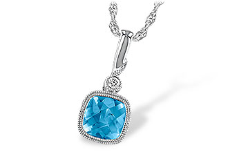 K222-97587: NECK 1.03 BLUE TOPAZ 1.05 TGW