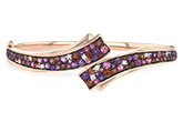 K224-79414: BANGLE 3.12 MULTI-COLOR 3.30 TGW (AMY,GT,PT)