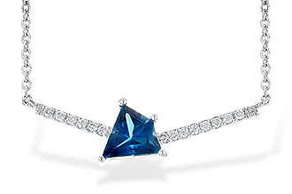 K226-61196: NECK .87 LONDON BLUE TOPAZ .95 TGW