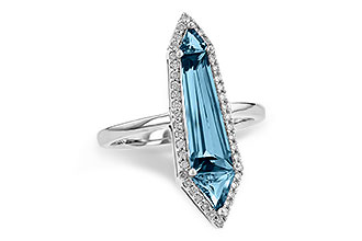 L226-55769: LDS RG 2.20 LONDON BLUE TOPAZ 2.41 TGW
