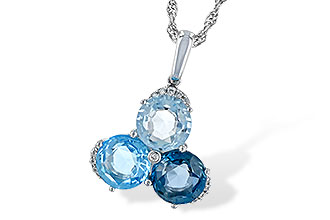 M225-64905: NECK 4.01 BLUE TOPAZ 4.06 TGW